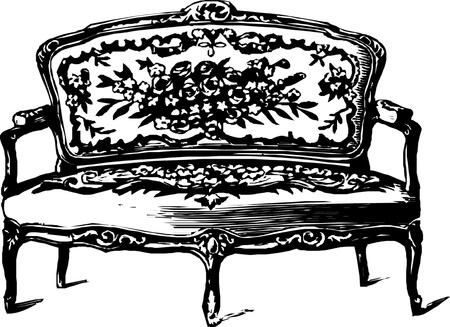 Antique sofa  Illustration