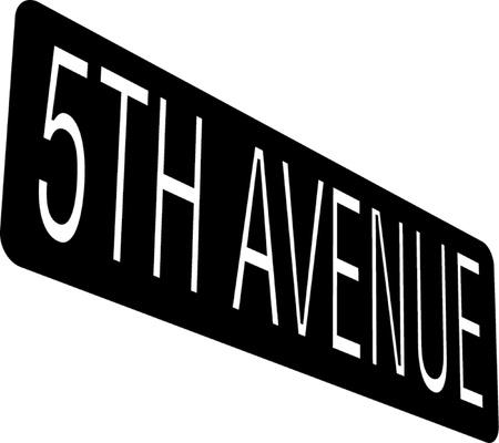 5th Avenue sign Vector