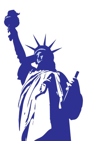 liberty: Statue of liberty in New York Illustration