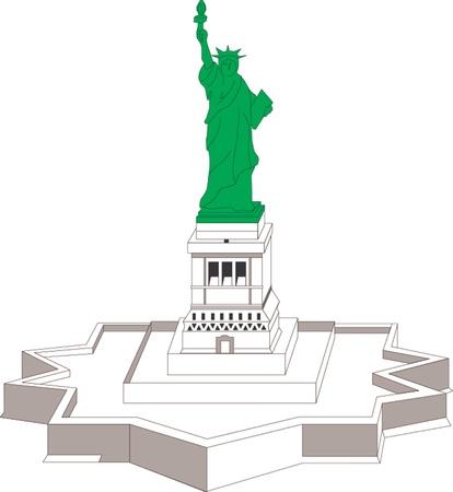 Statue of liberty in New York Illustration