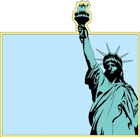 Statue of liberty in New York Vector