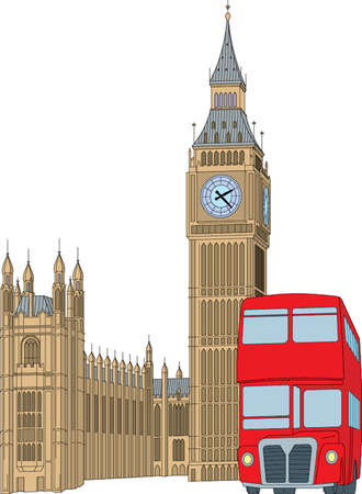 houses of parliament   london: london illustration Illustration