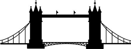 Bridge tower silhouette  Vector illustration Imagens - 22059590