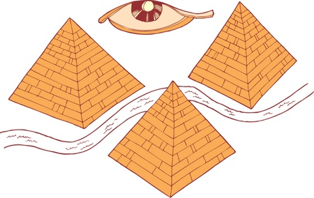 pyramid peak: Egypt symbols and Pyramids Illustration