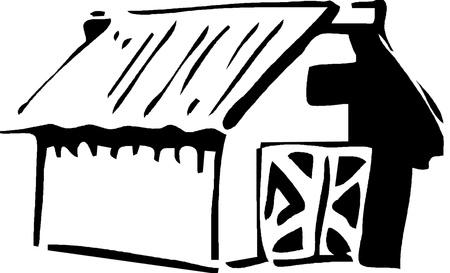 House Icon. Black and white