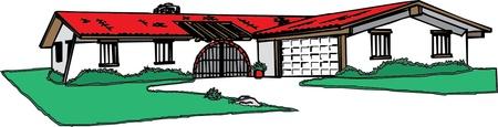 illustration of  house