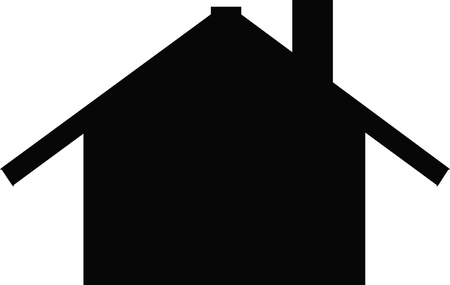 chimney pot: house silhouette Illustration