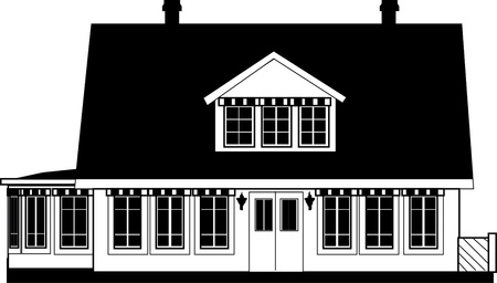 roof shingles: House Icon. Black and white