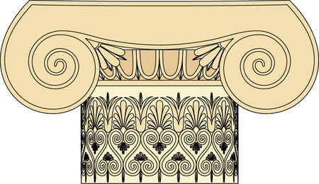 Antique column pillar Vector