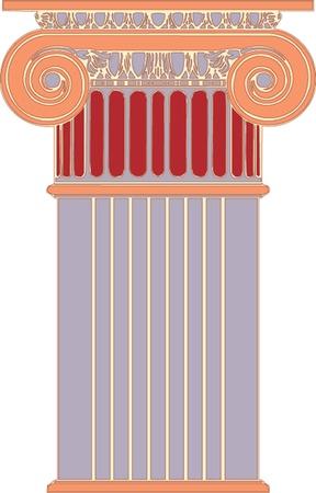 Antique column pillar