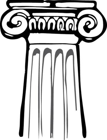 고대의 열 기둥 일러스트