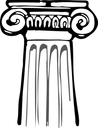Antieke kolom pijler