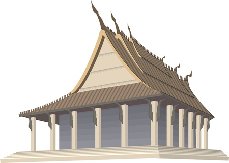 pavilion: chinese pavilion Illustration