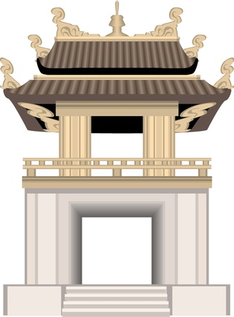 chinese temple: pagoda Illustration