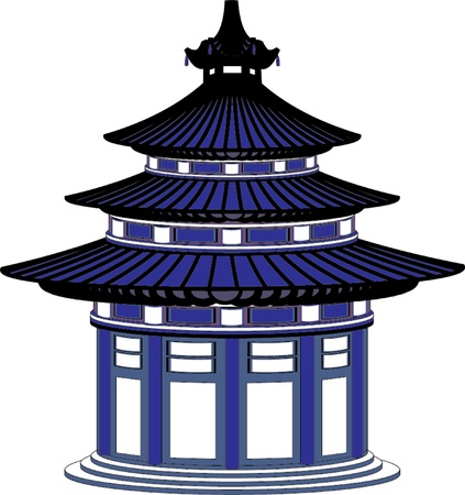 japanese temple Illustration