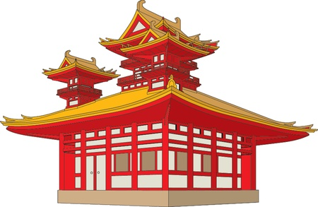 chinese traditional house: pagoda Illustration