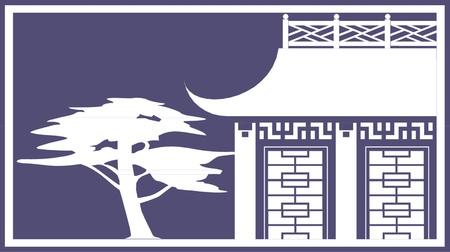 vector pagoda Vector