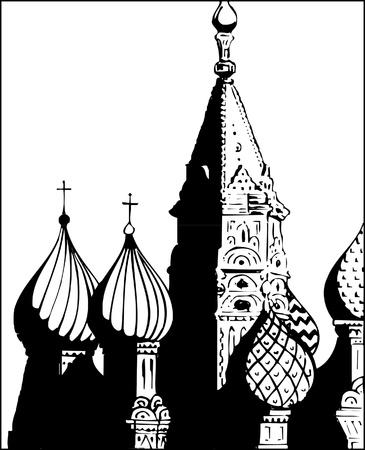 saint basil cathedral illustration Vector