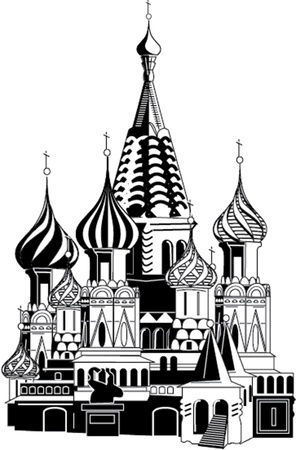 saint basil cathedral illustration