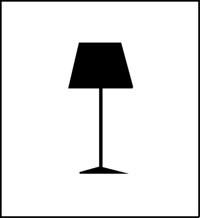 lampshade: Floor Lamp Icon Illustration