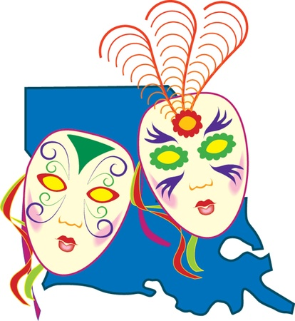 festive carnival masks Stock Vector - 22132850