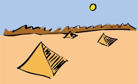 pyramids of egypt Vector