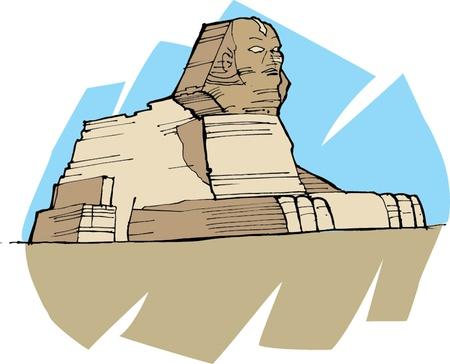 sphinx: illustrazione vettoriale della sfinge