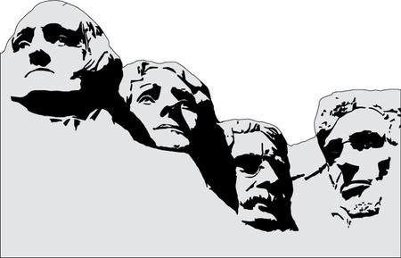 マウント ラシュモアの大統領  イラスト・ベクター素材