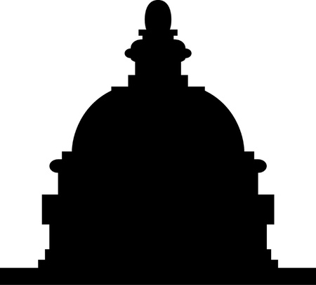 capitol hill: Illustration of the U S  Capitol, Washington D C   silhouette Illustration