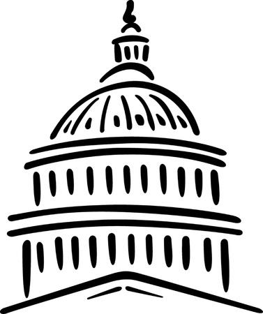 Ilustración de los EE.UU. Capitolio, Washington DC Ilustración de vector