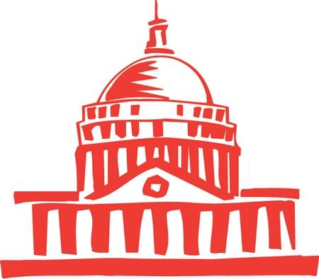 미국 국회 의사당, 워싱턴 DC의 그림