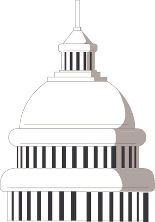 Illustration of the U S  Capitol, Washington D C   Vector