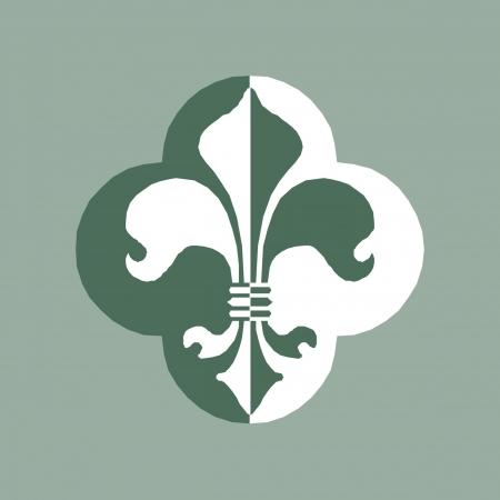cross hatched: Fleur De Lys symbol Illustration