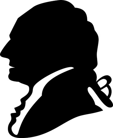 president of the usa: Vector illustration silhouette of George Washington Illustration