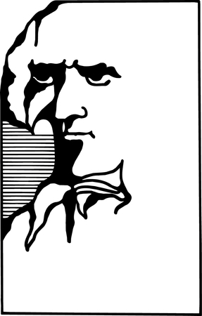 Black and white vector illustration of George Washington Stock Vector - 22207996