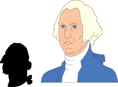 Vector illustration of George Washington  Stock Vector - 22208006