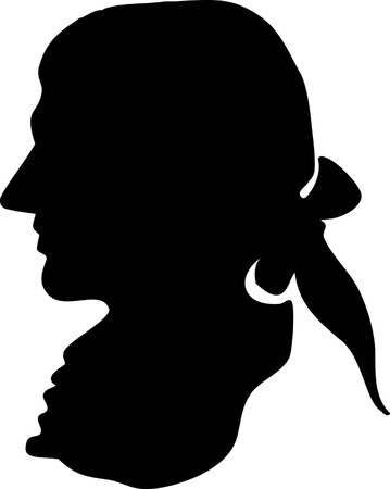 Vector illustration silhouette of George Washington  Stock Vector - 22208007