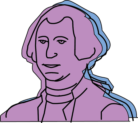Vector illustration of George Washington  Stock Vector - 22208005