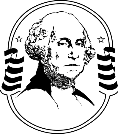 Black and white vector illustration of George Washington Stock Vector - 22208004