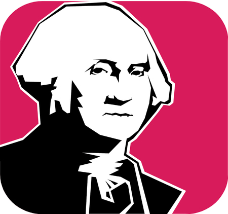 Vector illustration of George Washington  Stock Vector - 22208080
