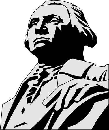 Vector illustration of George Washington  Stock Vector - 22208083