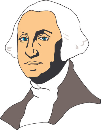 Vector illustration of George Washington  Stock Vector - 22208082
