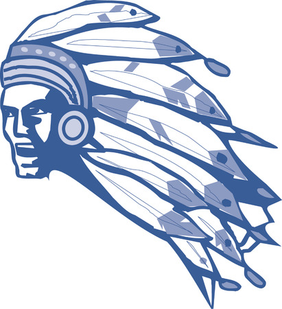 indian brave: Indian head mascot