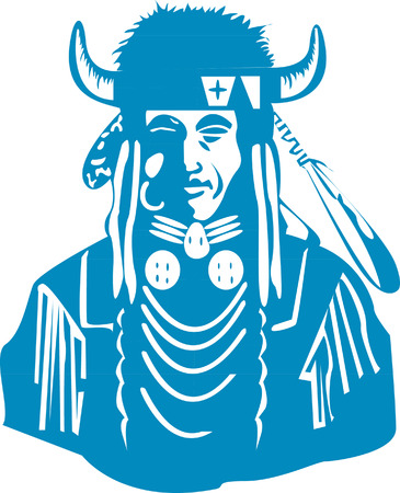 indian chief mascot: Native American