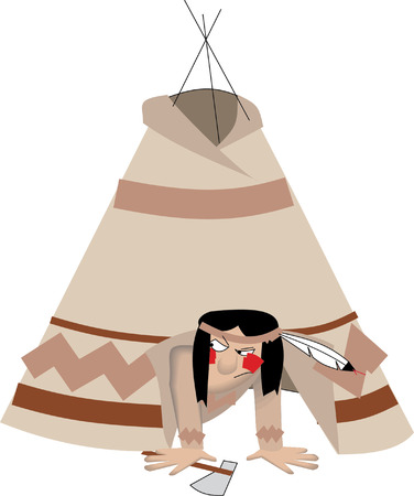 cartoon indians tepee Stock Vector - 22243020