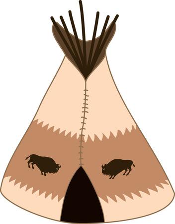 tepee: cartoon indians tepee