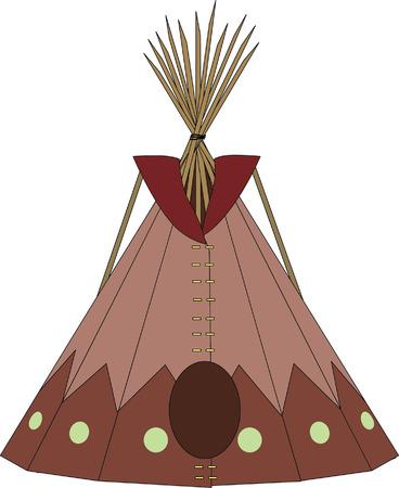 cartoon indians tepee Imagens - 22243024