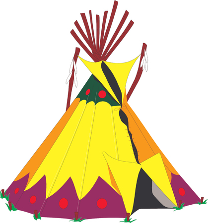 cartoon indians tepee