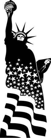 Statue of liberty illustration  Illustration
