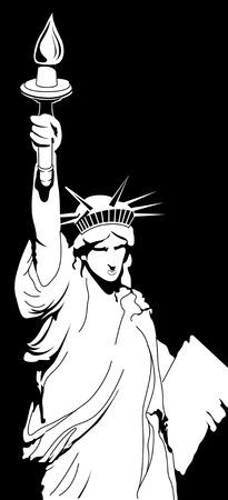 Statue of liberty illustration  Ilustração